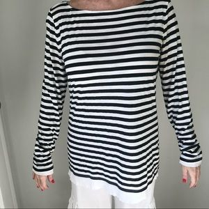 Michael Stars Black & White Striped T Shirt, OS